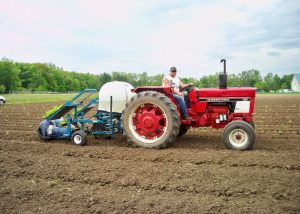 CSA Farm Green Bay WI farm tractor